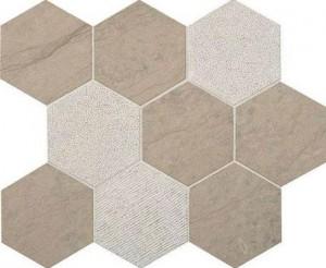 Gray Virtue 4 in. Hexagon Mosaic