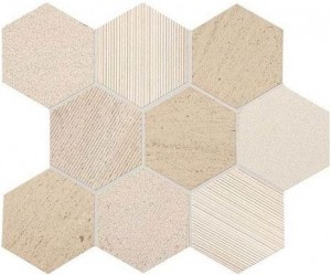 Honest Greige 4 in. Hexagon Mosaic